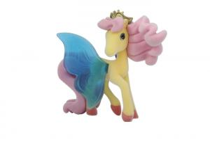 China Beautiful Mini Plastic Figures Toys , EN71 My Little Pony Toys With Wheat Color on sale