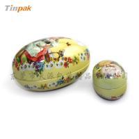 easter favor adorable colorful egg tin case