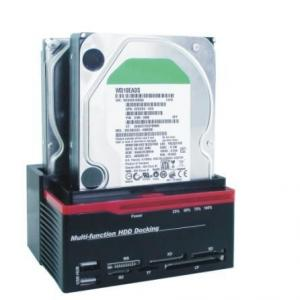 "Quality USB2.0&e-SATA to 2.5 3.5""SATA x3 multi-function HDD docking station 893U2S for sale"