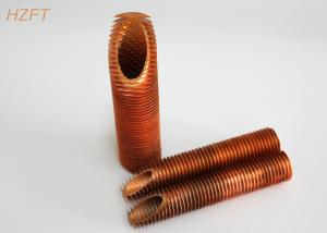 China Water Boilers or Solar Systems Copper Finned Tube Flexible Energy Saving on sale