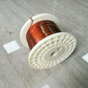 China Class 180 Polyurethane Coated Wire / 0.3 * 3.0 Mm Flat Copper Wire on sale