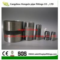 China 1/4-4stainless steel threaded pipe nipples running nipple with NPT/BSP thread on sale