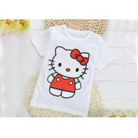Breathable Crew Neck Infant Toddler T Shirts 0.16 Kg Silk Screen Printing