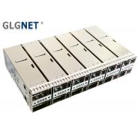 2x6 Stacked QSFP28 Cage With Outer Light Pipe supports 100G Ethernet