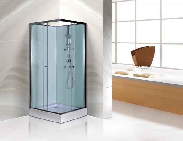 Free Standing Square Corner Shower Stall Kits SGS ISO9001 ...