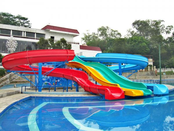 Fiber glass spiral swimming pool water slides for children - Commercial swimming pool water slides ...