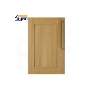 China Wood Grain Shaker Kitchen Cabinet Doors 458*688mm With PVC Film Wrapped on sale