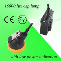Safety 3V Rechargeable LED Miners Cap Lamp 110MA Waterproof With 6.5Ah Battery