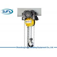 China KACC Manual Chain Hoist Lever Block 10m Lifting Height With Monorail Trolley on sale