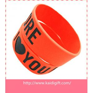 China new fashion silicone arm band,1 inch silicon wrist bands on sale