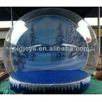 PVC inflatable Snow globe,  TPU Air Show Dome for Christmas, Colorful Christmas inflatables
