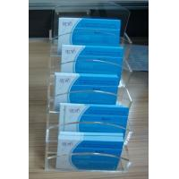 3mm Custom Acrylic Stationery Holder  / Plastic Multiple Desktop Business Card Holders