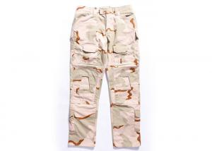 China Desert Military Tactical Pants Built In Knee Pads For Security Guard / Police Outdoor Sport supplier