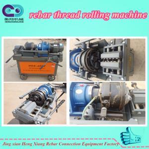 China Best quality Steel pipe thread making machine / rebar thread rolling machine on sale