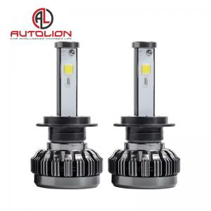 China Pure Aluminum LED Car Headlight , h1 h3 h4 h7 H8 H9 h11 LED Headlamp Color Changeable on sale