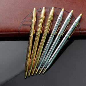China Cross rolled gold and silver ballpoint pen youtube slim metal twist ball pen on sale