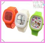 China 2013 Fashion Promotional Square Silicone Jelly Watch wholesale