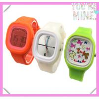 2013 Fashion Promotional Square Silicone Jelly Watch