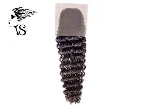 China Long Tight Wavy Brazilian Human Hair Lace Closure , Lace Front Closure Piece on sale
