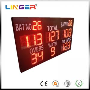 China Reliable Performance Electronic Cricket Scoreboard With Wide Viewing Angle supplier