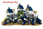 Villa Series Outdoor Playground Slide Include Exotic Architecture