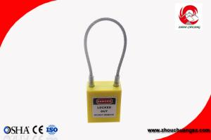 China Steel Wire Long Shackle Cable Safety Pad lock High Security Lockout Padlock on sale