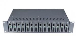 China Multimode Fiber Optic Media Converter 19 Inch 2U Chassis Rack Type on sale