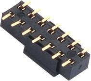 China Female Header Connector 2.54 spacing double row  PCB board  SMT ﹣40℃ to +105℃ on sale