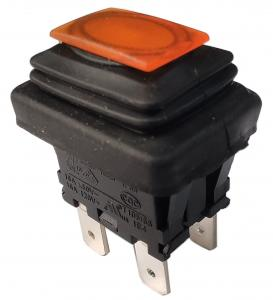 China PA66/PC Housing Push Button Electrical Switch , Electric Push Switch LC83-3 on sale