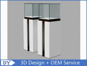 China OEM Fashion Practical Jewelry Display Cases For Trade Shows Semi - gloss White on sale