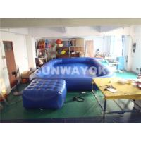 China OEM Double Stitching Air Tight Inflatable Swimming Pools With Platform Summer on sale