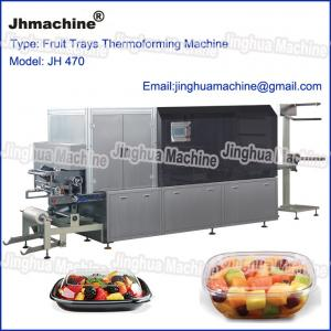 Quality Automatic four station thermoforming machine for Egg trays, Lunch box for sale