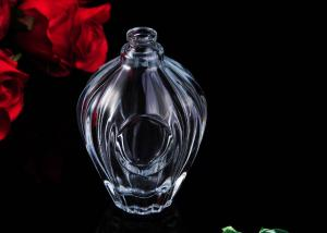 China 100ml Clear Car Carrying Refillable Empty Glass Perfume Bottle on sale