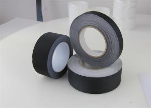 China Glue Electrical Insulation Tape , Acetate Cloth Tape Custom Black Coarse Texture Cloth Acrylic on sale