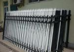 Security Powder Coated Zinc Steel Picket Fence For Residential , Heat Treated