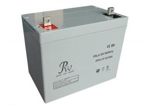China Rechargeable Lead Acid Battery , High Power Density Gel Type Battery 75Ah 12v on sale