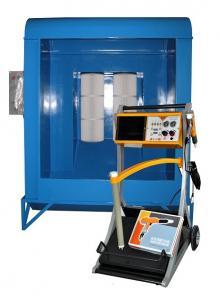 China Small Spray Coating Line Equipment / Electrostatic Manual Powder Coating Plant on sale