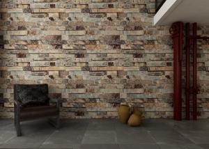 China Eco Friendly 3D Brick Effect Wallpaper , Waterproof Vinyl Wall Covering Light Weight on sale