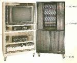 Gabinete movible de la televisión del metal
