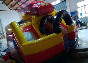 China Toddler Playground Inflatable Bouncer Combo Air Inflated Car Jumping Bouncer Slide on sale