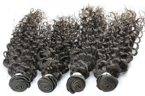 China Natural Black Afro Human Hair Extensions Kinky Curly For Black Women on sale