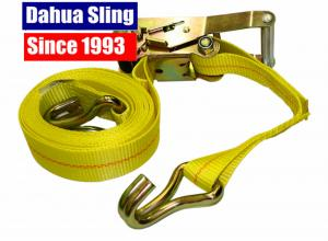 Quality 50mm 5T Heavy Duty Ratchet Straps For Truck , EN 12195-2 CE Certified for sale