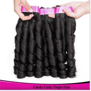 China New Arrival Smooth and Silky Top quality 100% Natural Virgin Brazilian Spring Curl Hair Weave on sale