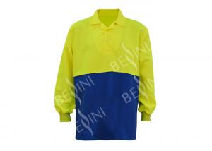 China Two Tone Outdoor Custom Work Shirts Fluroscent Yellow Australian Size / Length on sale