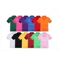 Colorful Short Sleeve Mens Cotton Polo Shirts Blank , Women Embroidered Polos