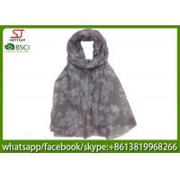 China factory direct supply mini flower long print scarf shawl 100*200cm 100% Polyester pashmina keep fashion