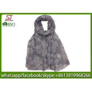 China China factory direct supply mini flower long print scarf shawl 100*200cm 100% Polyester pashmina keep fashion on sale