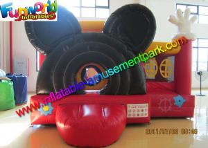 China MIckey Mouse Inflatable Bounce Houses , Small Jumping Castle With Repair Kit on sale