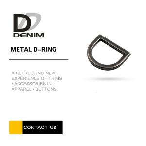 China Thick Gunmetal Metal D Ring Buckles Bulk Trims & Accessories For Bags on sale