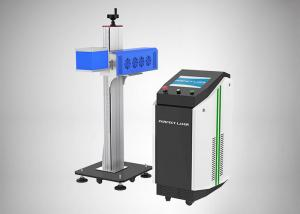 China Glass Tube Flying C02 Fiber Laser Marking System 60w 80w Energy Saving Water Cooling on sale